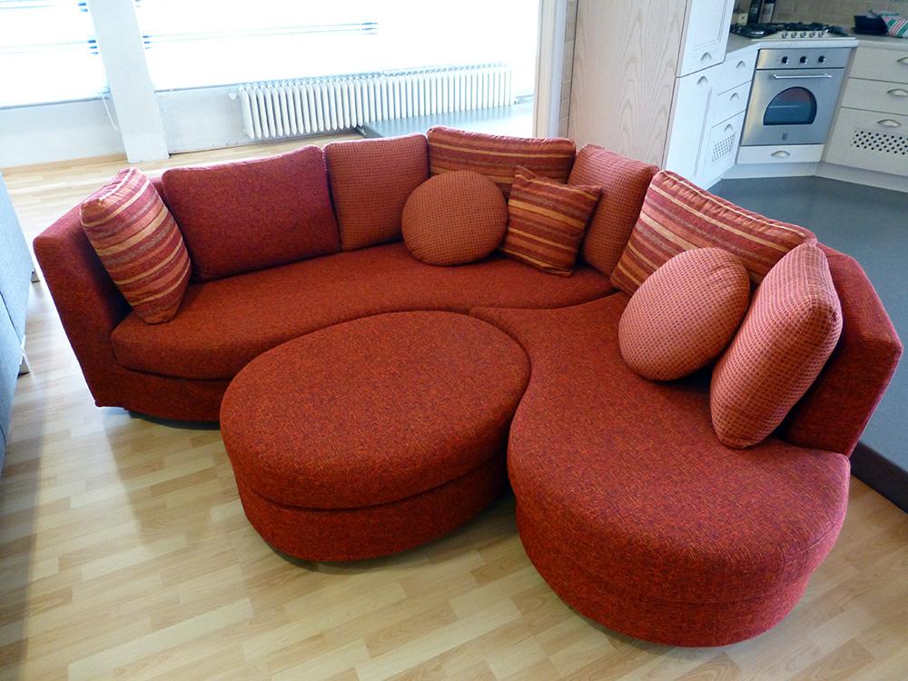 Tesini arredamenti divano curvo venduto - Divano curvo design ...